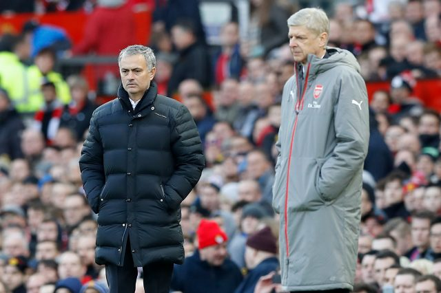 Jose Mourinho and Arsenal boss Arsene Wenger