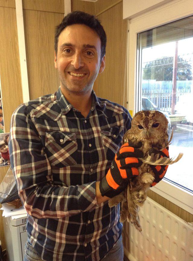 Joseph Spiteri-Braysford with Tony the Tawny owl