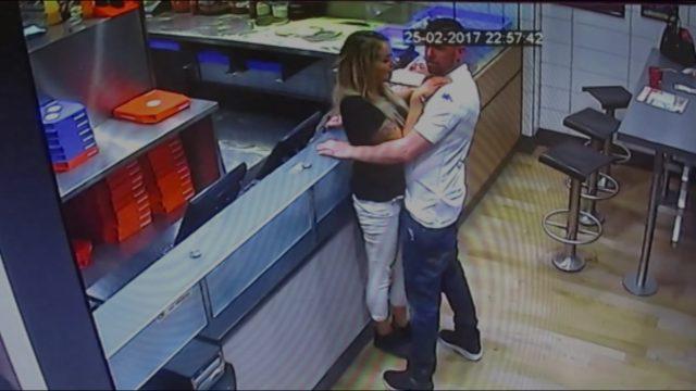 CCTV image of Craig Smith and Daniella Hirst