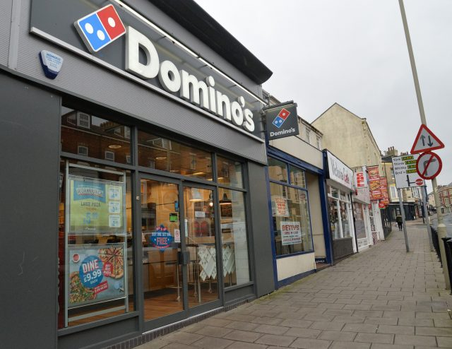 The Domino's Pizza takeaway in Scarborough