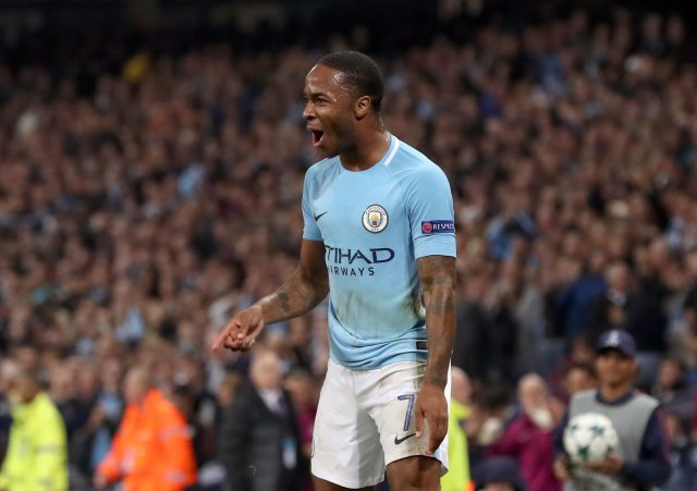 Raheem Sterling opened the scoring in Manchester City's victory (Martin Rickett/PA)