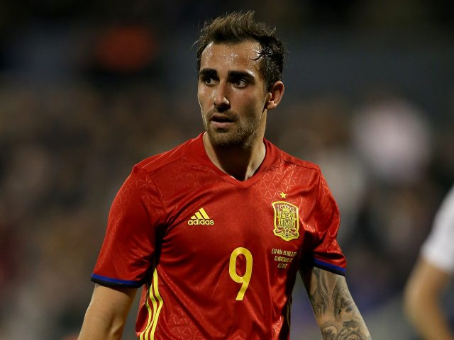 Paco Alcacer in action for Spain