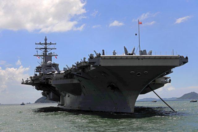 USS Ronald Reagan aircraft carrier (Vincent Yu/AP)