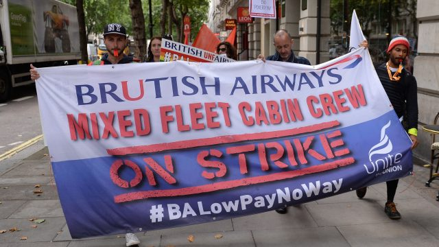 Cabin crew at British Airways were on strike for the whole of August in their long-running dispute over pay