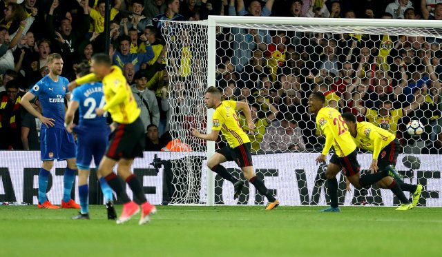 Tom Cleverley scored Watford's winner