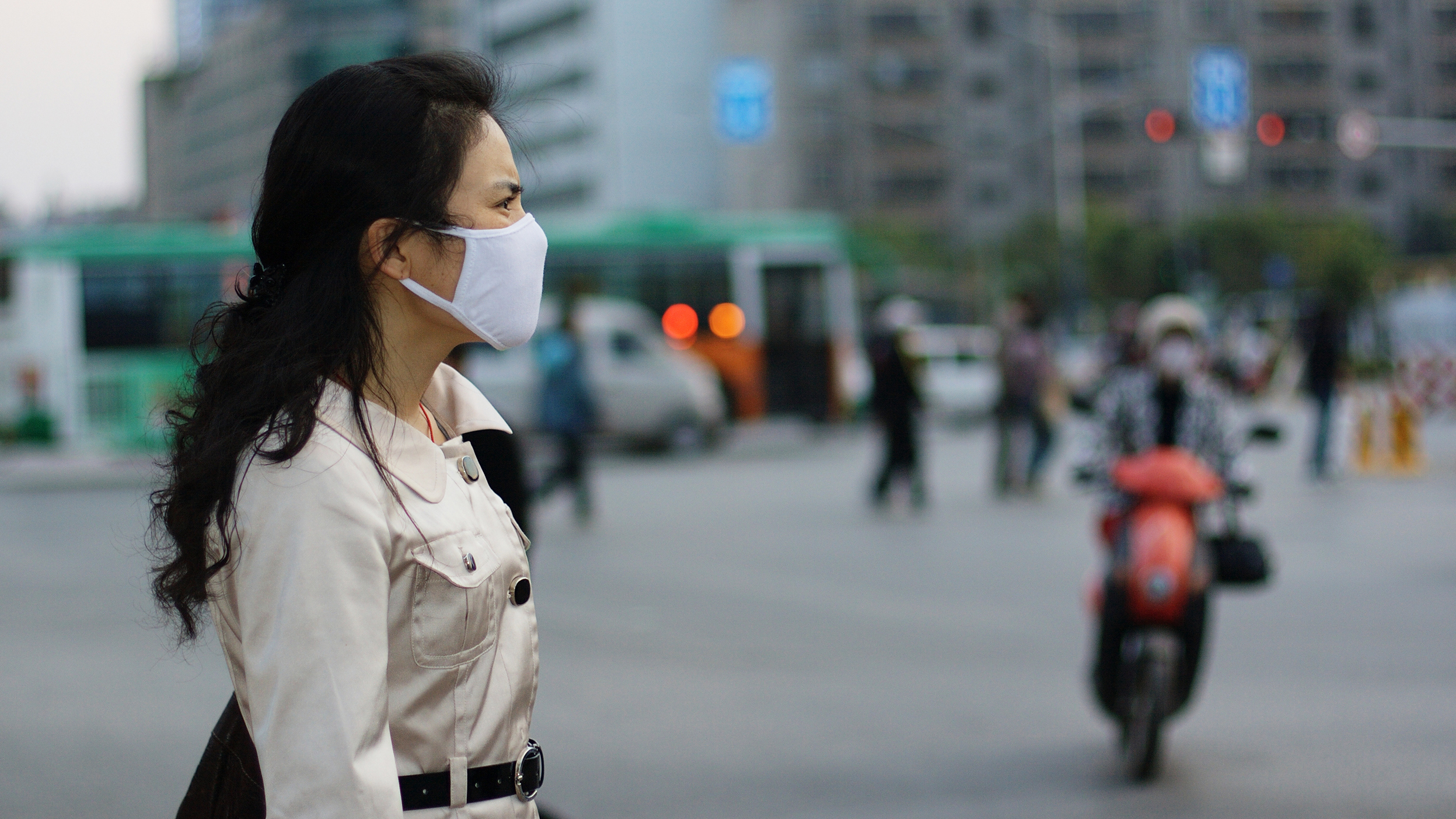 Pollution mask.
