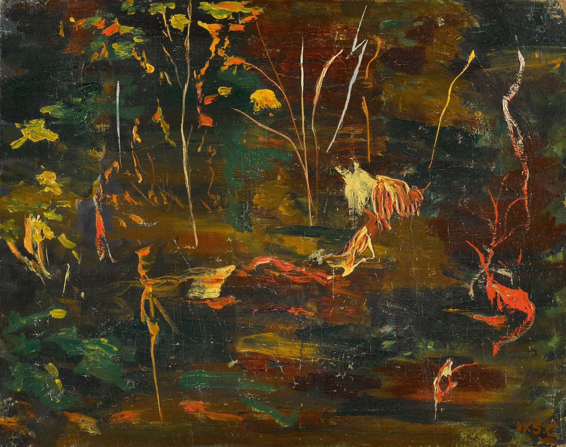 Sir Winston Churchill, The Goldfish Bowl At Chartwell, Oil on canvas 1962 (Sotheby's)