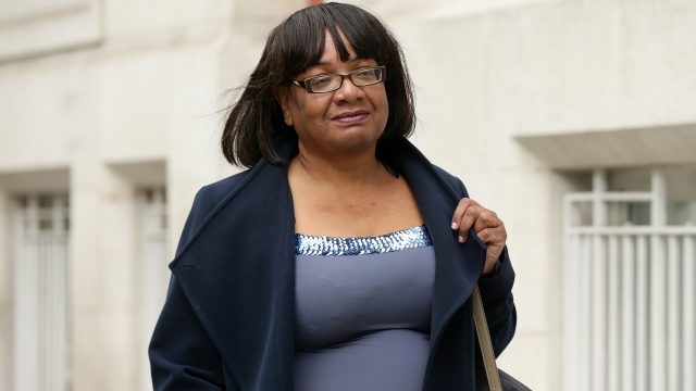 Diane Abbott was given a standing ovation as she gave the final speech of the event