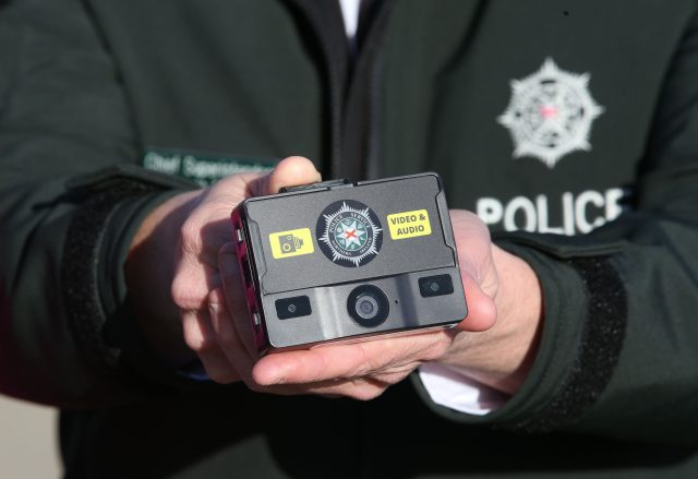 Body cameras used by police in Northern Ireland. (Brian Lawless/PA)