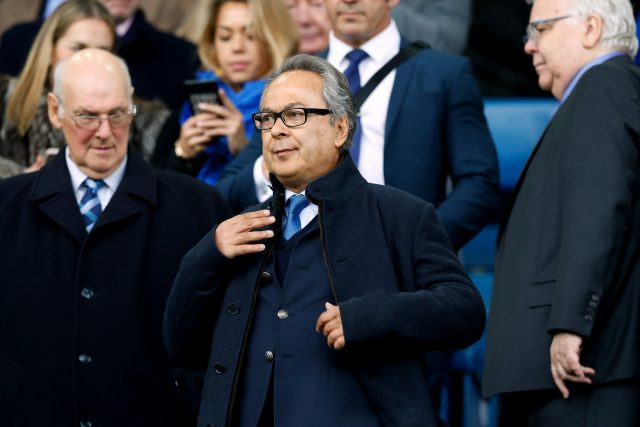 Farhad Moshiri watched on as Arsenal increased Everton's woes