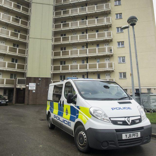 Police at the scene in Bradford
