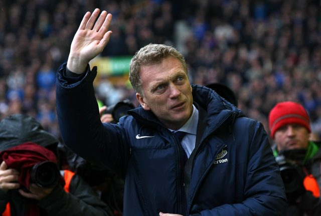 Former Everton boss David Moyes waves to the fans in 2013