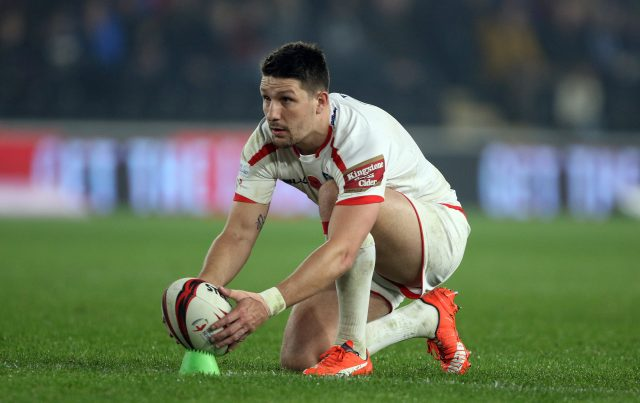 Gareth Widdop in action for England