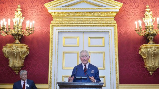 Prince Charles was speaking at a reception for British Red Cross volunteers