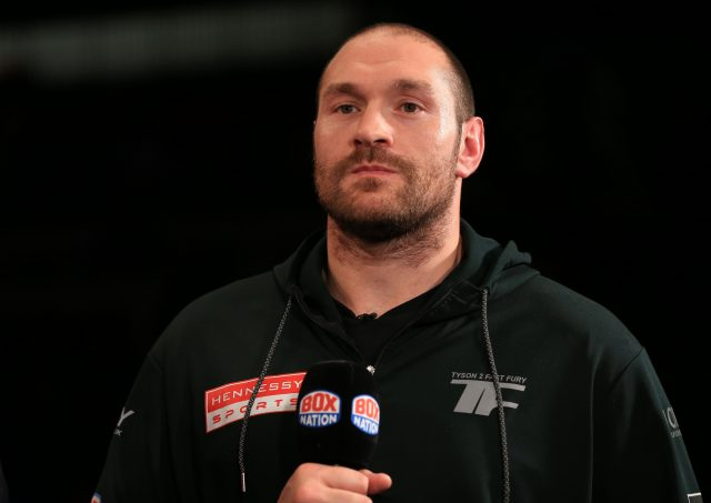 File photo dated 30-04-2016 of Tyson Fury