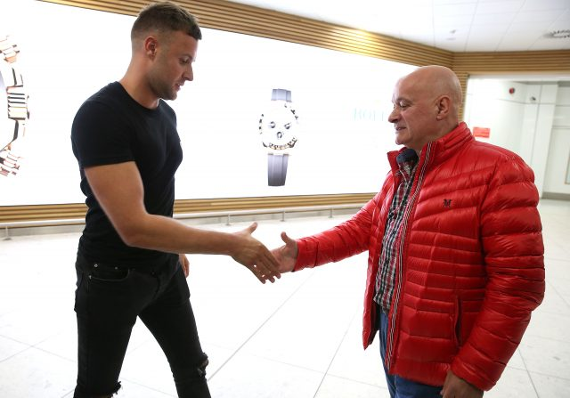 Jamie Harron arrives back home after being released from jail in Dubai