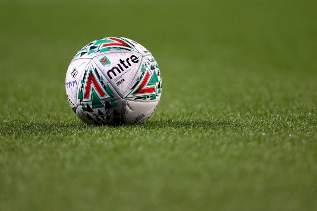 A Mitre Delta ball that is used in the Carabao Cup