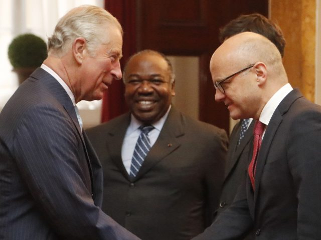 The Prince of Wales meets Norway's environment minister Vidar Helgesen and Gabon president Ali Bongo Ondimba