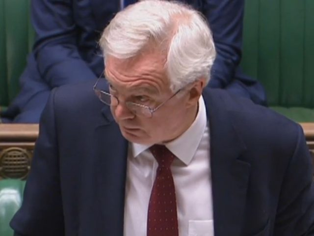 David Davis takes questions in the Commons