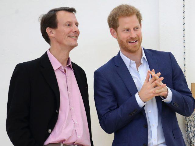 Prince Harry and Prince Joachim of Denmark at the Copenhagen Danish Veterans Centre