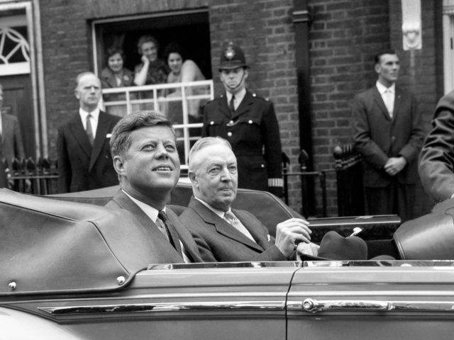 John F Kennedy during a 1961 visit to London