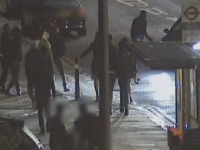 CCTV still from the incident in Catford