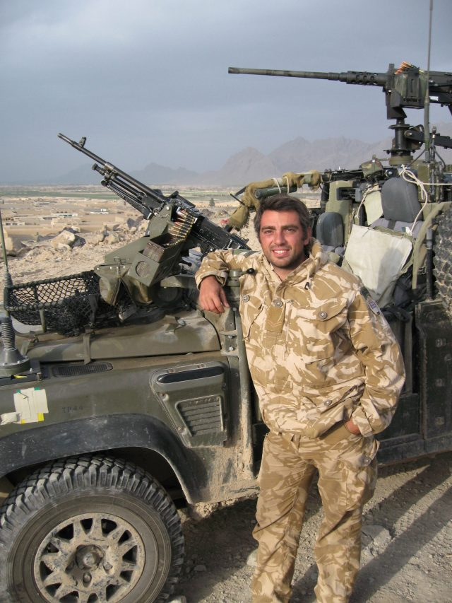 Former Royal Marine Harris Tatakis, who has become the first UK veteran to benefit from iPod-based treatment for debilitating tinnitus