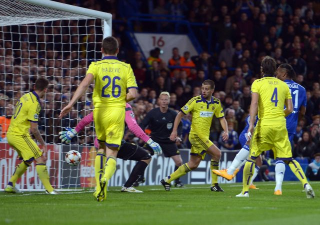 Maribor suffered a heavy defeat at Chelsea in 2014