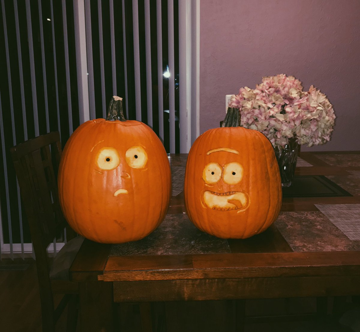 The Rick and Morty pumpkins
