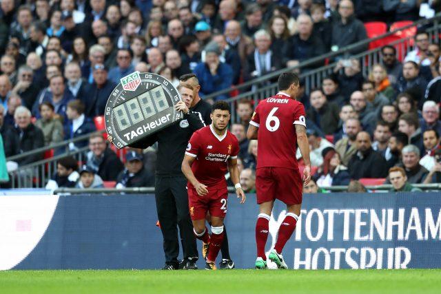Dejan Lovren was hauled off against Tottenham