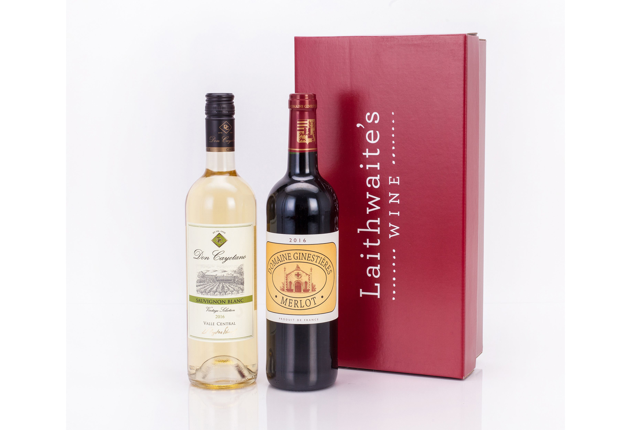 Laithwaite's white and red wine gift pack (Laithwaite's/PA)