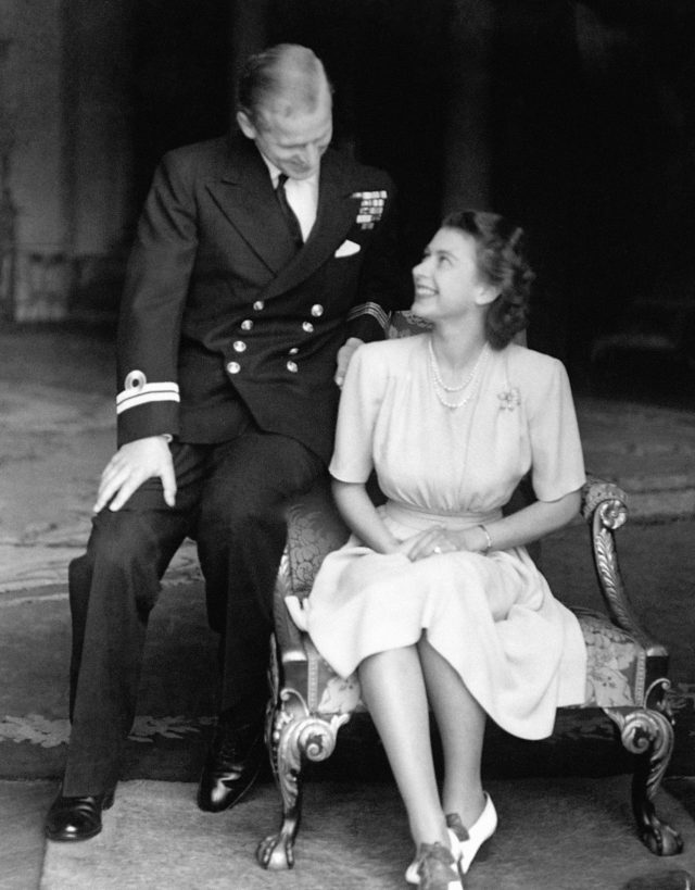 Princess Elizabeth and Lieutenant Philip Mountbatten announcing their engagement (PA)