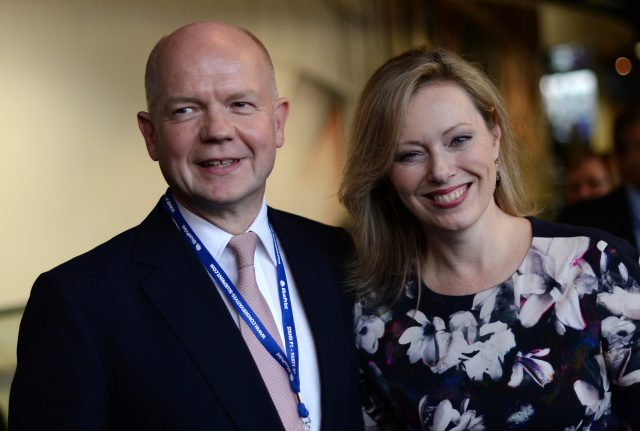 William Hague and his wife Ffion