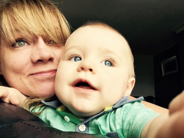 Angela Oliver and grandson Lucas Smith (Collect/PA Real Life)