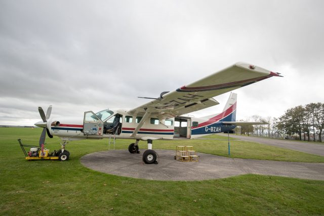 An aeroplane similar to the one used by Victoria Cilliers used for skydiving at Netheravon Airfield in Wiltshire
