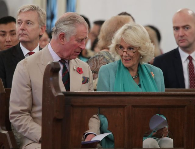 The Prince of Wales and the Duchess of Cornwall attend a service at St. Mary's Cathedral in Kuala Lumpur, Malaysia.