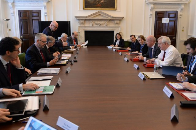 Scottish and Welsh ministers, along with Northern Ireland's top civil servant, meet First Secretary of State Damian Green and Brexit Secretary David Davis during a Joint Ministerial Council on Brexit in the Cabinet Office, London, in October