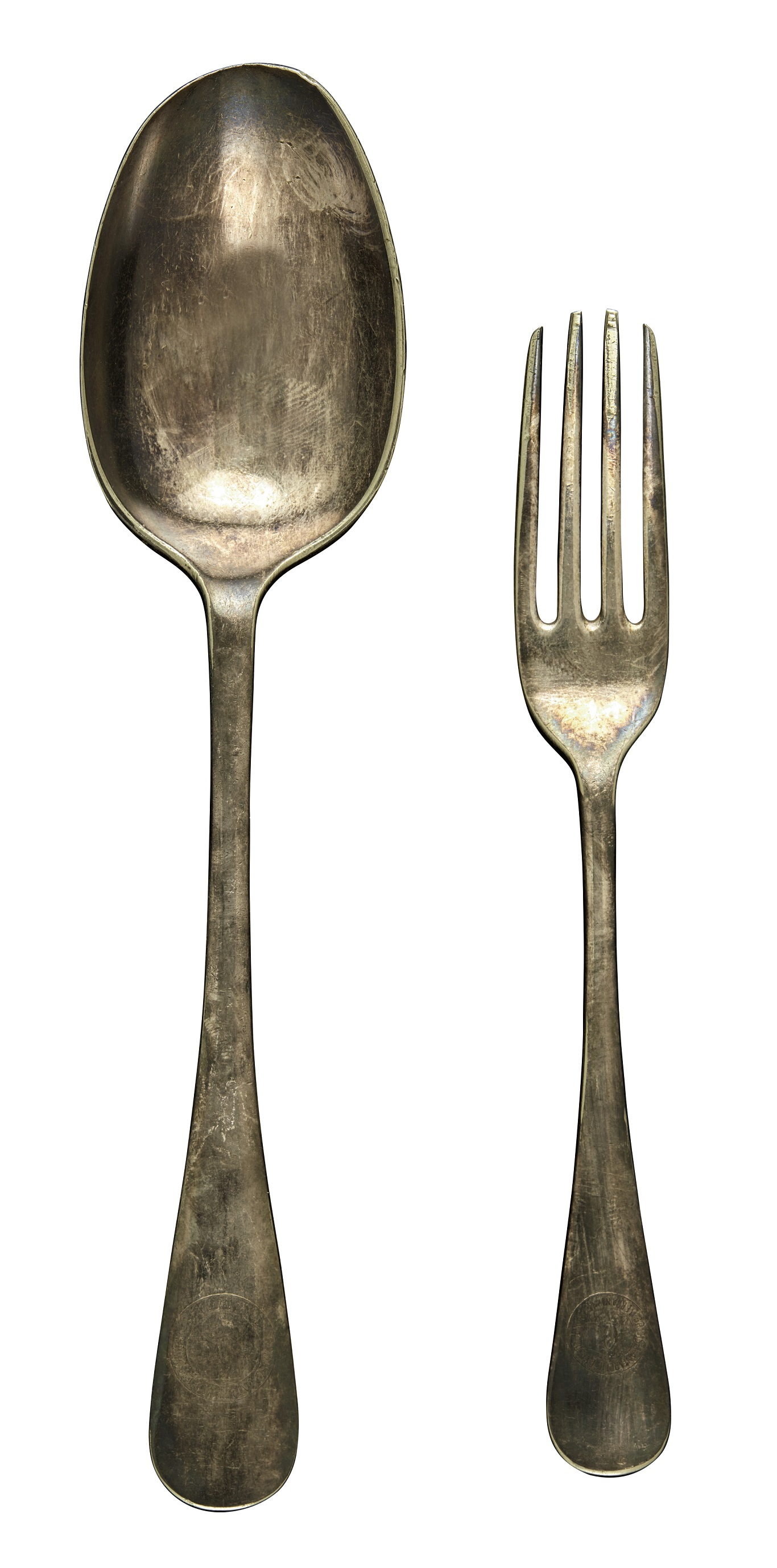 A spoon and fork from the expedition (Sotheby's)