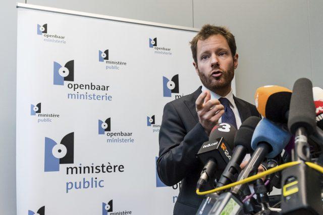 Spokesman of the Brussels Prosecutor's office Gilles Dejemeppe. (Geert Vanden Wijngaert/AP/PA)