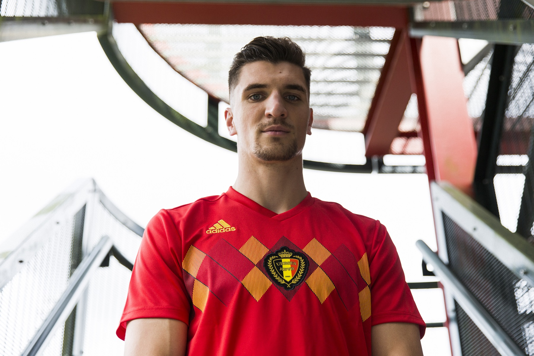 2086bbbda Belgium s home shirt for the 2018 World Cup in Russia (Adidas)