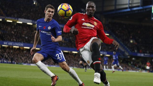 Andreas Christensen took the place of David Luiz in Chelsea's defence for their 1-0 win over Manchester United