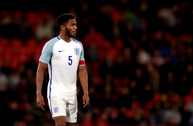 Joe Gomez, on England Under-21s duty in September (John Walton/Empics)