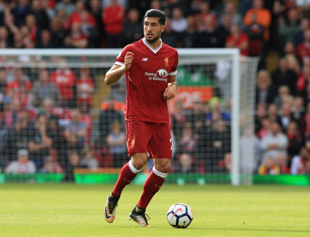 Emre Can is out of contract at Liverpool next summer
