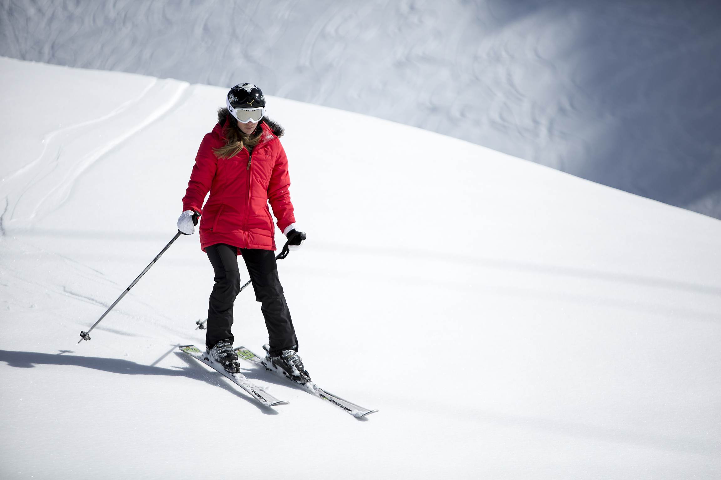 Woman skiing (Neilson/PA)