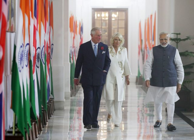 The Prince of Wales and Duchess of Cornwall with Indian Prime Minister Narendra Modi