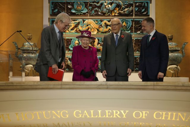 The Queen at the British Museum