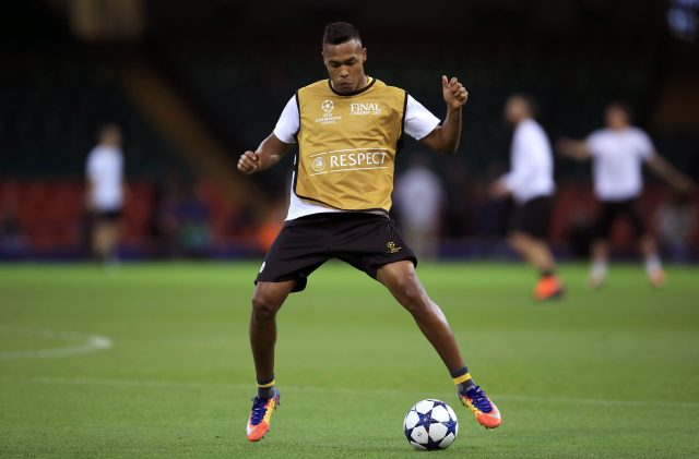 Juventus' Alex Sandro during a training session