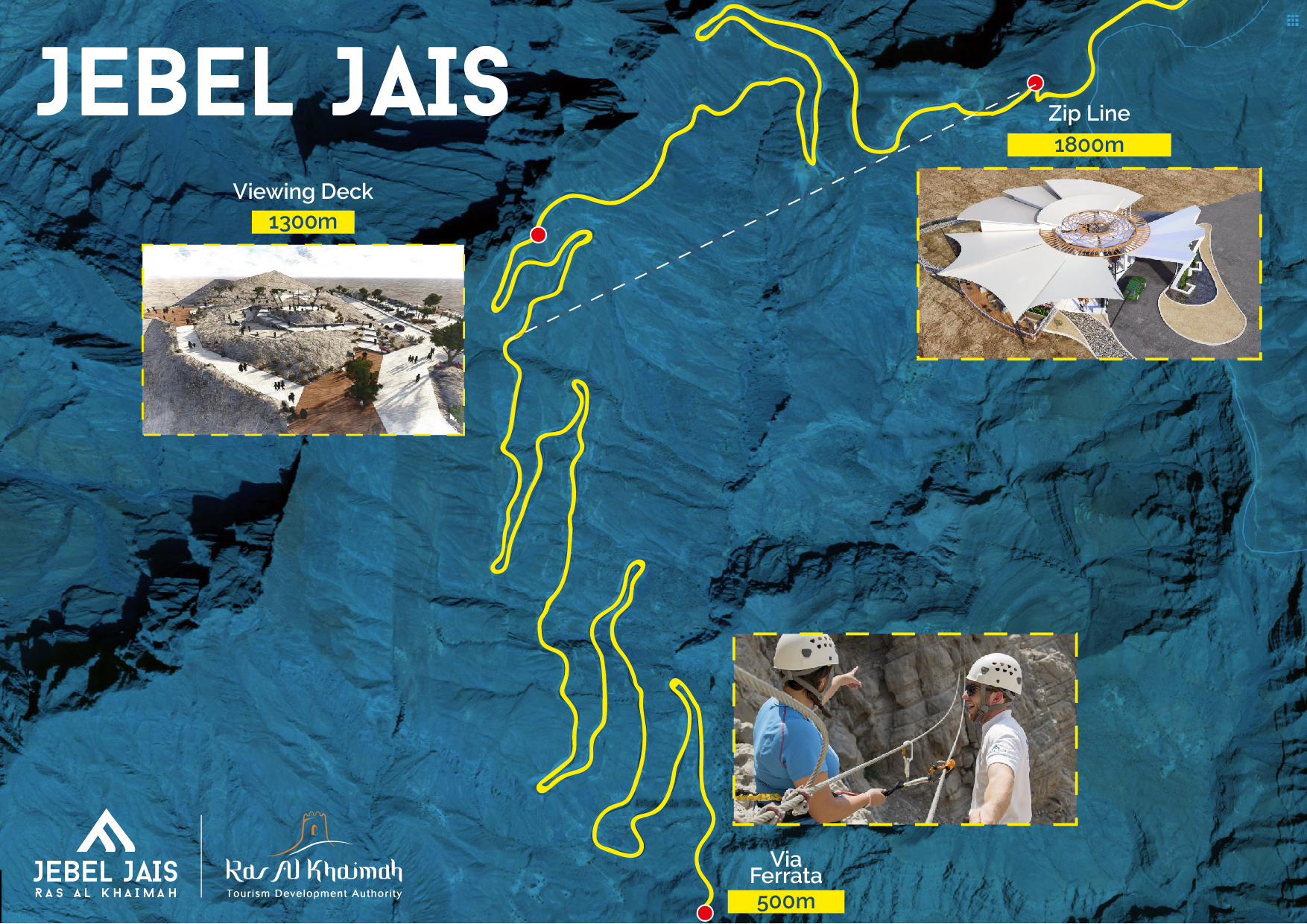 Map of the Jebel Jais mountain