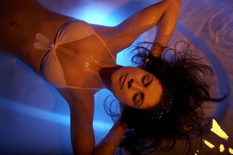 woman in floatation tank (Floatworks/PA)
