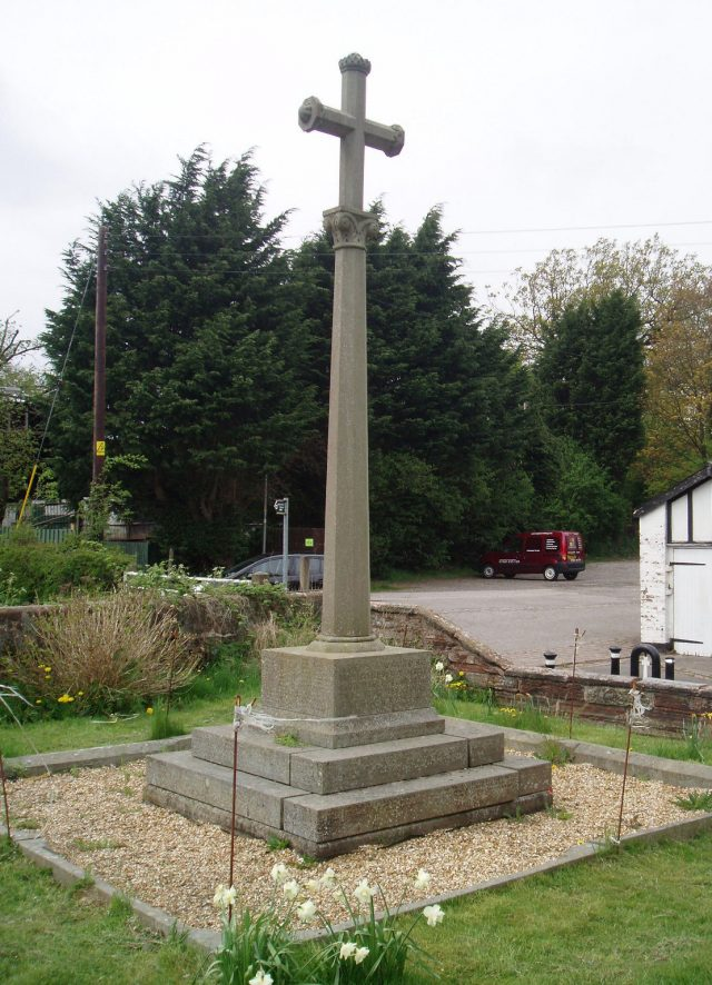 First World War Memorial in Over, Winsford, Cheshire